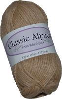 Classic Alpaca 100% Baby Alpaca Yarn #207 Boston Beige 50g/110 yds DK Peruvian