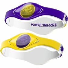 Authentic Power Balance Silicone Wristband - Home & Away Purple/Yellow - Medium