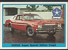 Panini Super Auto 1977 Sticker - No 83 - Vintage Car - Chrysler Dodge Aspen