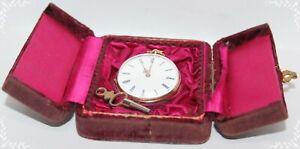 Antike Taschenuhr 585er Gold, Schlüsselaufzug, um 1900