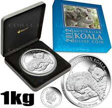 1 kg 99.9% Pure Silver Proof Coin AUTHENTIC Australian Koala 2012 Perth Mint COA