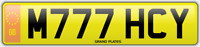 Mitchy Michy Micky NUMBER PLATE M777 HCY Michelle MITCH CHERISHED REGISTRATION