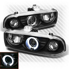 For 1998-2004 Chevy S10 Blazer Halo Pro Headlights Black Head Lights Lamp Pair
