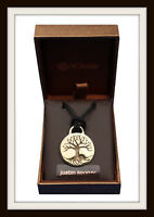 TREE OF LIFE DISC BRONZE PENDANT NECKLACE ~  FROM ST JUSTIN ~ FREE & FAST P&P
