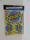 Autographics #657 Family Channel Sticker Sheet  1/10 scale  NIB