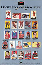 LEGENDS OF HOCKEY Classic Hockey Cards Poster Print (24 Hall of Fame Legends)