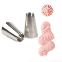 #195 Russian Icing Piping Nozzles Tips Cake Decorating Pastry Delicate Tool UK
