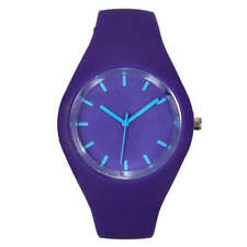 Women's Silicone/Rubber Case Round Watches with 12-Hour Dial