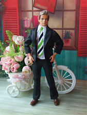 3in1 Fashion Black Suit Coat+Shirt+Pants Clothes For Barbie's BF Ken Doll B21