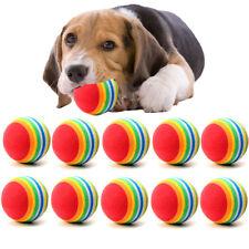 10Pcs Squeaker Dogs Toys Plush Soft Chew Tennis Ball Puppy Play Pets Game Mini