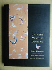 Chinese Textile Design. 1992 HB DJ 1st Edn. China Decorative Arts Design History