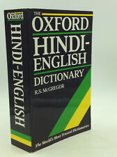 THE OXFORD HINDI-ENGLISH DICTIONARY by R.S. McGregor, ed. - 1997 -