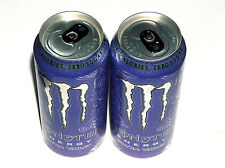 New Release 2 MONSTER Energy ULTRA VIOLET Zero Purple 16oz Full Drink Cans W Tab