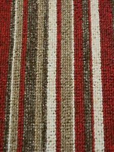 STAIR OR HALL CARPET RUNNER Brown, Beige, Red and Cream made to measure any size