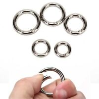 5pcs Camping Hiking O Shape Ring Alloy Buckles Clips Carabiner Round Hooks RvLDU