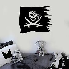 Vinyl Wall Decal Nursery Pirate Flag Jolly Roger for Kids Stickers (ig1312)