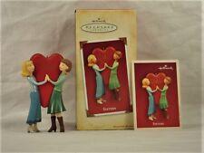 COLLECTIBLE Hallmark Keepsake Ornament - Sisters w/ heart - 2004 NIB w/price tag