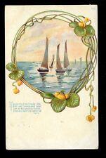 Germany Sailing Art Nouveau style vignette u/b PPC