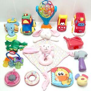 Bundle Lot Of Baby Toys: Little Tikes, Bright Starts, Kids 11, Plush Toys & More