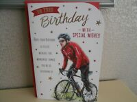 On your Birthday Card Happy Birthday Cycling bike ride Cyclist themed card