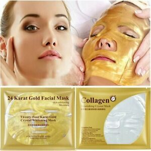 24K Gold Face Mask Collagen Skin Care Facial Anti Aging Masks Moisture Cosmetics