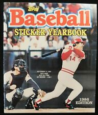 """Topp Baseball MLB Sticker Yearbook 1986 Edition """"No Stickers"""" """"Pete Rose"""""""