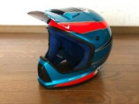 * Vintage SHOEI Motocross Full-Face Helmet Blue/Red Used Size XL Rare  *