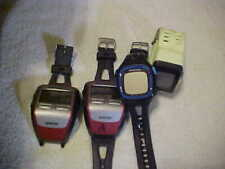 Lot Of 4 Gps Watches No Charge Cords 2 Garmin Forerunner 305s, Garmin 15 And Nik