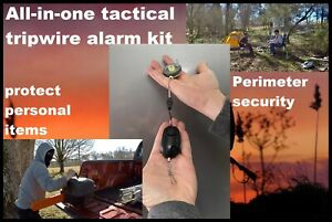 Camp Guardian Trip wire alarm W/ waterproof kit & 85ft of Trip wire on reel