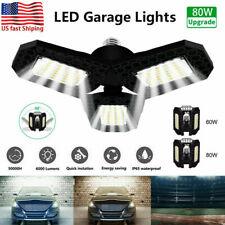 80W 8000LM LED Luz de garaje deformable super brillante bombilla RG Shop Luces de techo