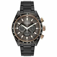 Citizen Eco-Drive Men's CA4207-53H Chronograph Black Bracelet 42mm Watch