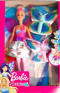 Barbie Dreamtopia Flying Wings Fairy Doll (SKU FRB08) Feenpuppe NEU!!!