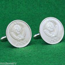 CCCP Vintage Cold War Coin Cufflinks, 20 Kopeks USSR Soviet Union Russian