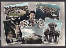 SIRACUSA CITTÀ 32 SALUTI da... VEDUTINE Cartolina FOTOGRAFICA viaggiata 1956