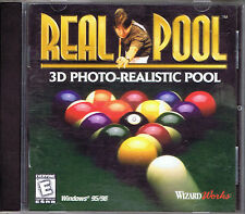 Real Pool (PC, 1998, WizardWorks) - Free USA Shipping!