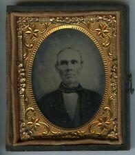 PORTRAIT . Vieil Homme - Ambrotype circa 1870 . union case