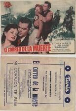 Año 1950. Programa Publicitario de CINE: El correo de la Muerte.