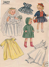 "3407 Vintage Chubby Doll Pattern - Size 16"" - Korean War Year 1950"