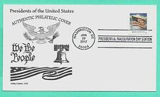 DONALD TRUMP 2017 INAUGURATION COVER , DON ASHLEY CACHET W/FLAG STAMP