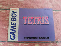 Tetris - Authentic - Nintendo Game Boy - Manual Only! (DMG-TR-USA-4)