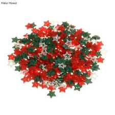 200pcs Mixed Christmas Color Star Resin Buttons Sewing Scrapbooking Decor 13mm