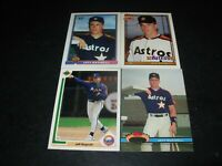 4-1991 Jeff Bagwell Houston Astros Rookie cards-Bowman,Stadium,Topps,Upper Deck