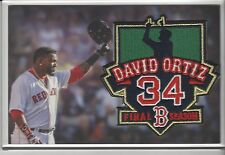 "David Ortiz ""Big Papi"" Final Season Commemorative Patch Boston Red Sox 10/2/2016"