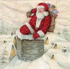 4 lose Servietten Motivservietten Decoupage Weihnachten Weihnachtsmann (1226)