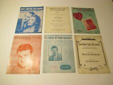 Lot of 6 Vintage Piano Vocal Voice Sheet Music~Down De Road~Meet Mister Callagha