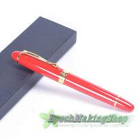 jinhao x450 Bright red golden clip Medium nib fountain pen new
