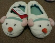 Girls Snowman Slippers By Mark's And Spencer Size 11 With Lights BNWT