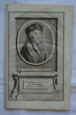 Portrait - Erasme - Desiderius Erasmus Roterodamus - D. Phoenix circa 1650