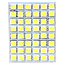 1x White 12V 48SMD 5050 LED Panel Light For Car Interior Dome Trunk Cargo 5000K