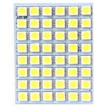 1x White 12V 48SMD 5050 LED Panel Light Lamp For Car Interior Dome Trunk Cargo